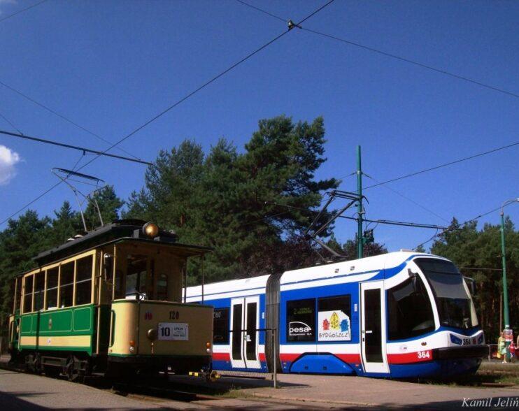 Budowa linii tramwajowej do Fordonu widziana z drona