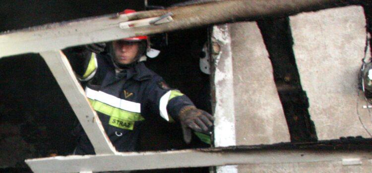 """Mężczyzna został uwięziony w rumowisku podczas rozbiórki altanki na działce """"Storczyk"""""""